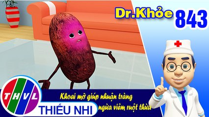 Dr. Khỏe - Tập 843: Khoai mỡ giúp nhuận tràng ngừa viêm ruột thừa
