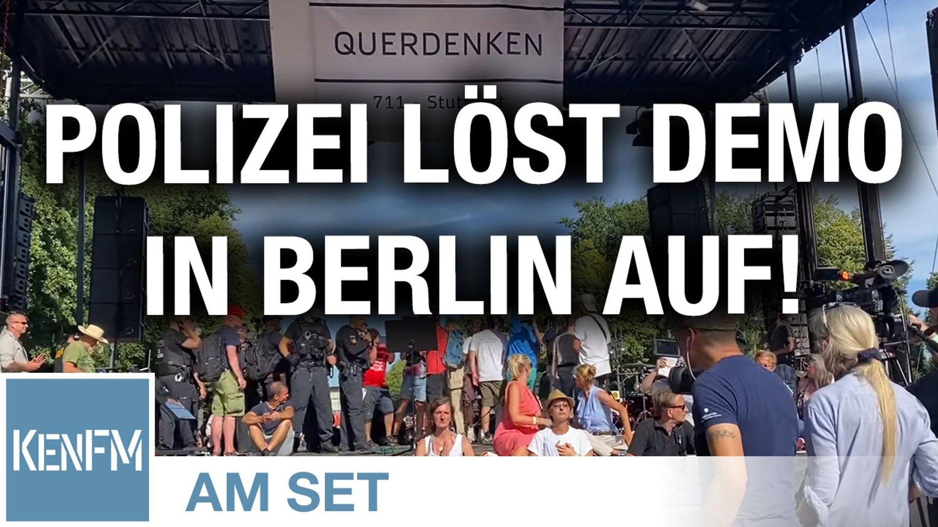 Demonstration Berlin - 1.8.2020. 16-45 Uhr, die Polizei beendet die Veranstaltung