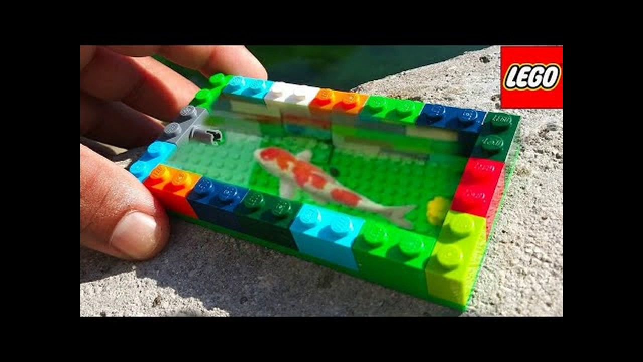 WORLD'S smallest LEGO FISH POND Aquarium! DIY Fishing