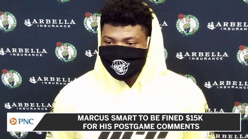 Marcus Smart to be Fined $15K for Postgame Comments
