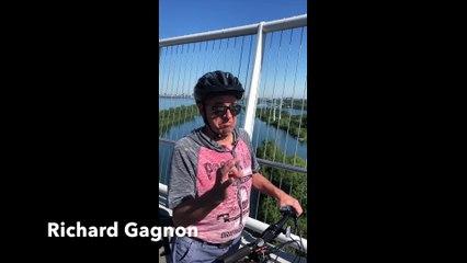 Vélo au pont Samuel-De Champlain