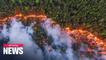 Massive fires tears through Siberian forest