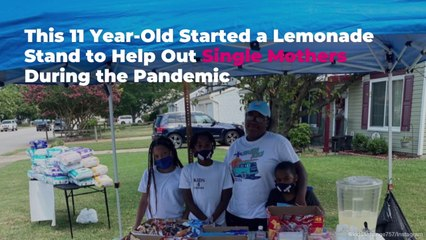 This 11 Year-Old Started a Lemonade Stand to Help Out Single Mothers During the Pandemic