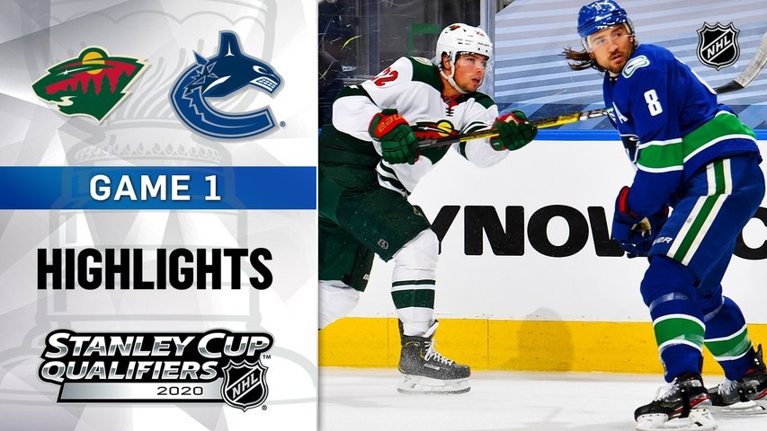 NHL Highlights   Wild @ Canucks  8/02/2020