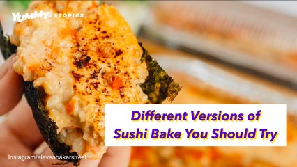 Different Versions Of Sushi Bake You Should Try