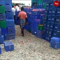 Rains spoil tonnes of fruits and vegetables at Chennai's Thirumazhisai market
