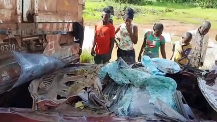 Le film de l'accident à Kouroussa (5 morts et des blessés)