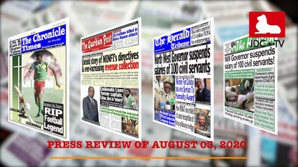 CAMEROONIAN PRESS REVIEW OF AUGUST 03, 2020