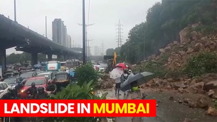 Heavy Rains Cause Landslide In Mumbai