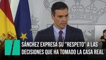 Sánchez expresa su