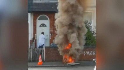 Feuerball mitten im Wohngebiet: Explodierende Gasleitung schockt Anwohner