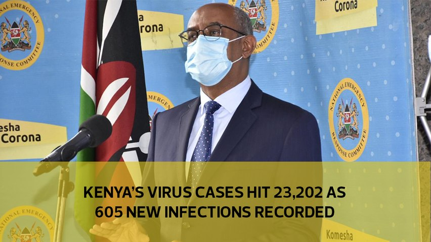 Kenya's virus cases hit 23,202 as 605 new infections recorded