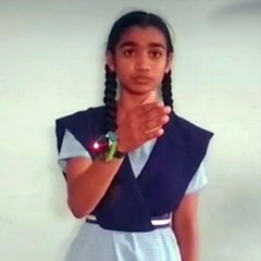 A class 9 student devises a smart-band to alert people when they touch their faces