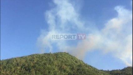 Riaktivizohet sërish zjarri në Rubik, digjen me dhjetëra hektar pyje, rrezikohen banesat përreth