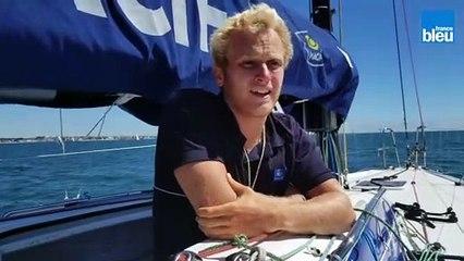 Erwan Le Draoulec, skipper à la Solo Guy Cotten