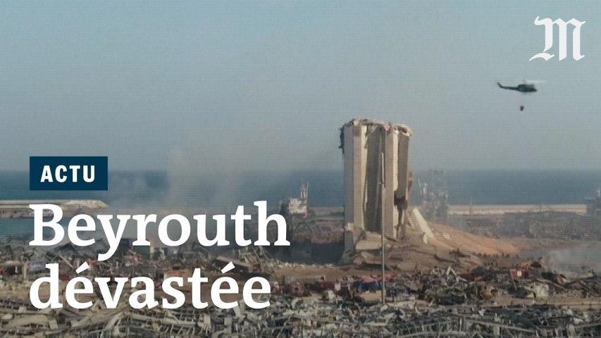 Double explosion : les images de Beyrouth soufflée par la déflagration