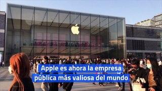 Apple es ahora la empresa pública más valiosa del mundo