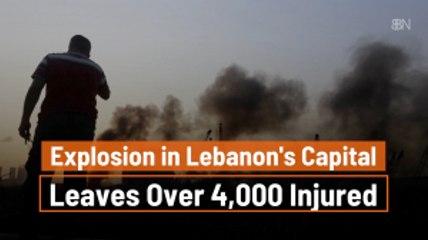 A Massive Explosion In Lebanon's Capital