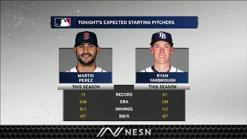 Gameday Live: Red Sox's Martin Perez Looks To Stop Boston's Losing Streak Vs Rays