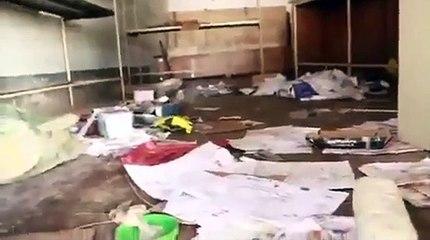 Voici les dégâts  après la dernière marche de l'UDPS/Bilanga à Kasumbalesa, dans la province du Haut-Katanga.