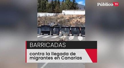 Barricadas en un pueblo de Canarias para impedir el alojamiento de personas migrantes