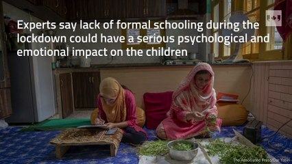 Children in Indian-controlled Kashmir struggle with school amid lockdowns