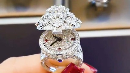 This diamond ring doubles as a watch