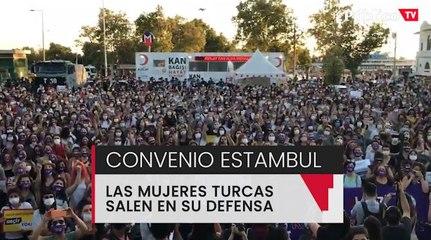 Las mujeres turcas se manifiestan para defender el Convenio de Estambul