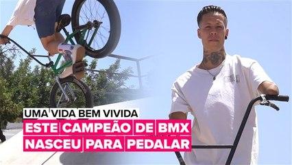 Uma vida bem vivida: Este campeão de BMX nasceu para pedalar