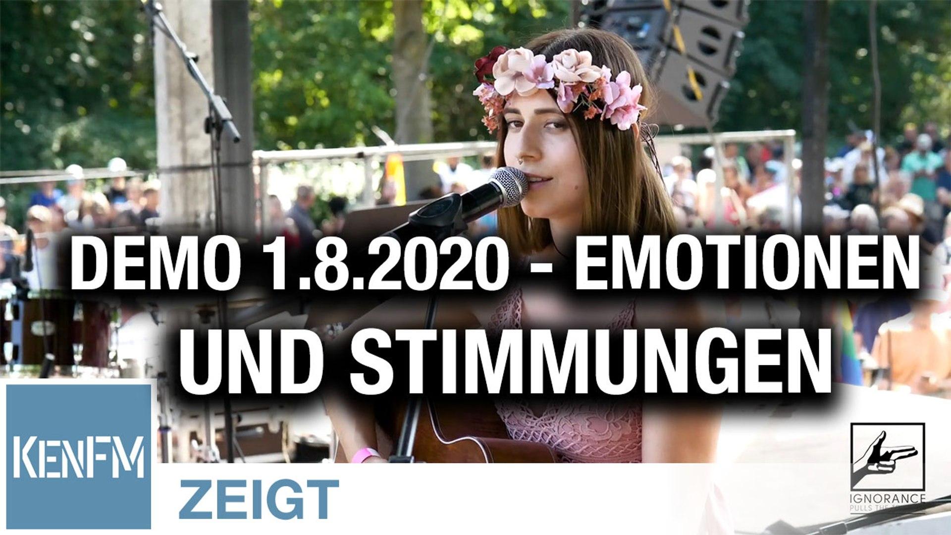 """Emotionen und Stimmungen auf der Demo """"Das Ende der Pandemie – Der Tag der Freiheit"""" am 1.8.2020"""