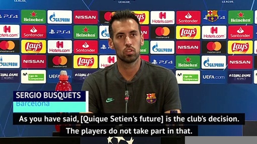 Setien's future not down to Barcelona players - Busquets