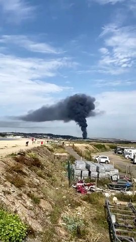 Watch black smoke filling the air as serious fire breaks out in Newhaven