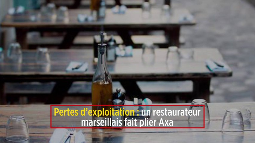 Pertes d'exploitation : un restaurateur marseillais fait plier Axa