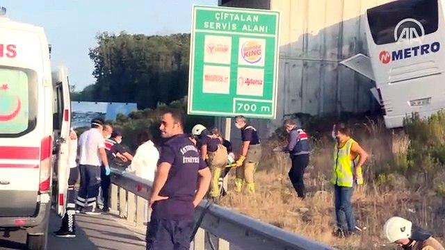 Kuzey Marmara Otoyolu'da otobüs kazası