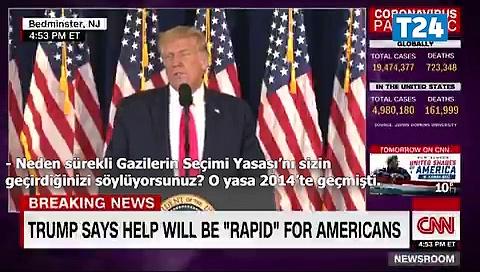 """""""Gerçeklerle karşılaşınca kaçtığını gördük"""": Trump, yaptığı açıklamanın doğru olmadığı söylenince kürsüyü terk etti"""