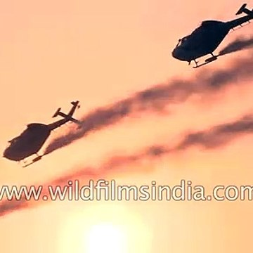 India's Sarang Helicopters of the Indian Air Force