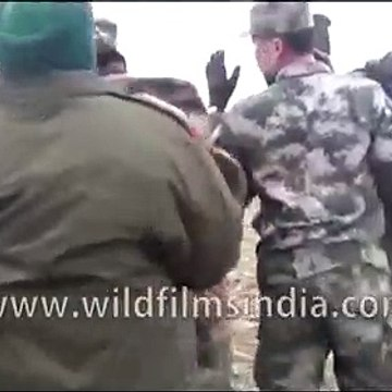 Troops at Indo-China border face off against each other