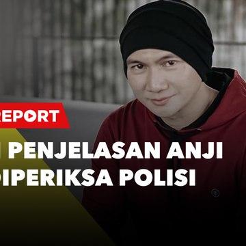 LIVE REPORT: Begini Penjelasan Anji usai Diperiksa Polisi