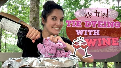 Here's How to Tie-Dye With Red Wine
