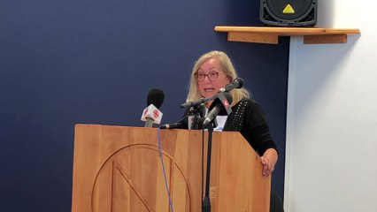 Action collective face à l'érosion des berges - Conférence de presse du 10 août 2020 - Micheline Lagarde