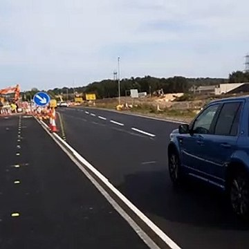 Traffic freed up on approach to Testo's as roundabout's upgrade to flyover progresses