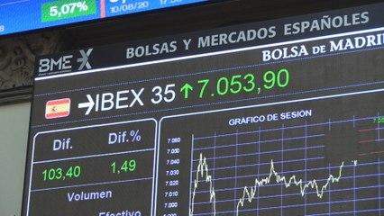 El Ibex sube un 1,49 % hasta los 7.053 puntos impulsado por la banca