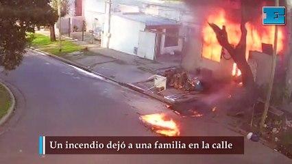 Un incendio dejó a una familia en la calle