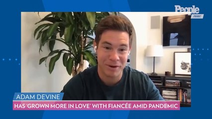 Actor Adam Devine Has 'Grown More in Love' With Fiancée Chloe Bridges During Covid-19 Pandemic