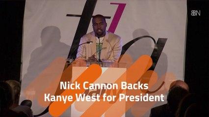 Nick Cannon In Kanye's Corner