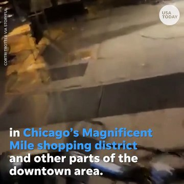 Chicago looting and demonstrations- Miracle Mile struck by violence