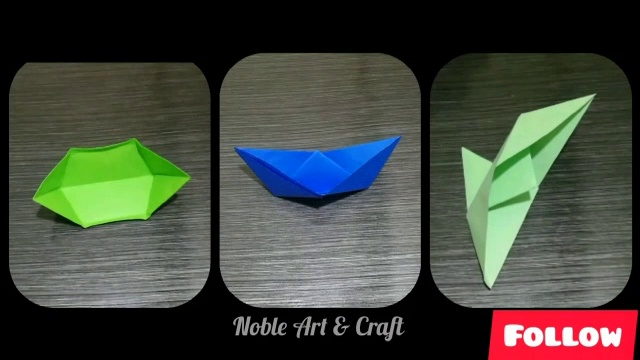 3 Different Origami Boats | Floating Boats | Paper Boats || Noble Pearl