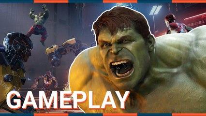 AVENGERS : HULK présente du GAMEPLAY pas très subtil ! - Marvel's Avengers - PC PS4 PS5 Xbox One XSX
