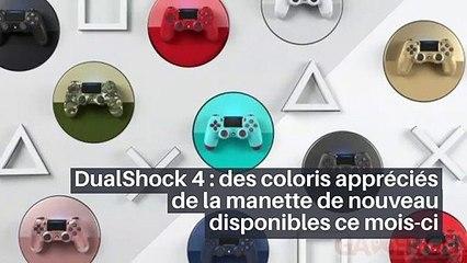 DualShock 4 : des coloris appréciés de la manette de nouveau disponibles ce mois-ci