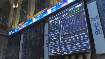 El Ibex 35 busca los 7.300 puntos después de cambiar de tendencia tras una apertura a la baja